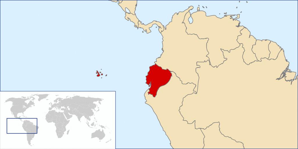 Ecuador Landkarte
